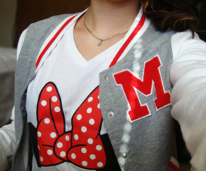 minie mouse and school jaket image