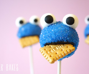 cookie monster, food, and cake pops image
