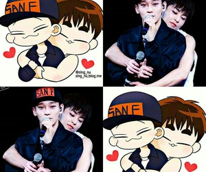 Chen, chibi, and otp image