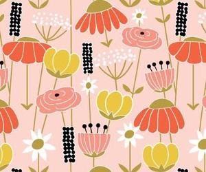 design, floral, and flower image