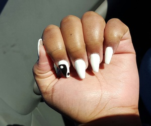 black, nails, and coffin image