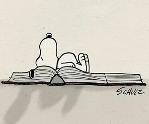 book, snoopy, and dog image