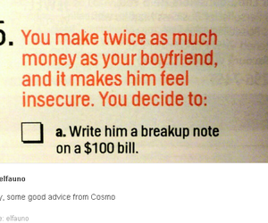 break up, cosmo, and funny image