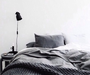 grey, interior, and bed image
