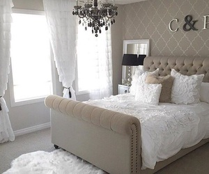 bed, decor, and girl image