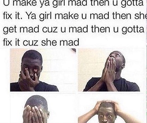 funny, Relationship, and mad image