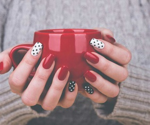 nails, red, and white image