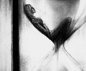 time, sad, and drawing image