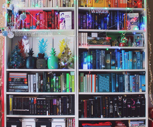 book, bookcase, and bookshelf image