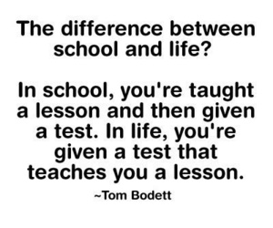 life, school, and quote image
