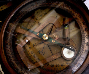 brown, compass, and leaves image