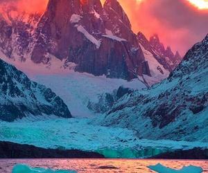 mountain, nature, and sunrise image