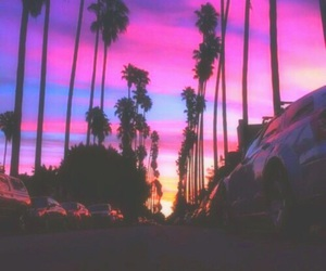sky, pink, and summer image