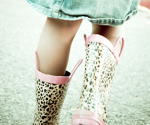 boots, pink, and skirt image