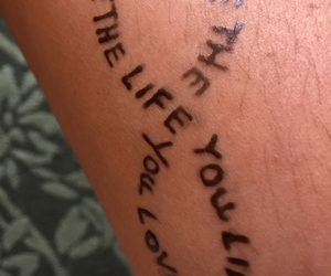 life, tatoo, and love image