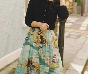 fashion, vintage, and skirt image