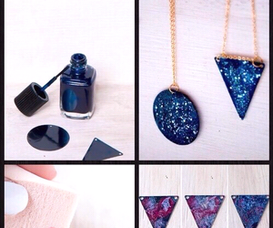 diy, galaxy, and necklace image