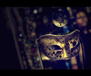 venice, mask, and music image