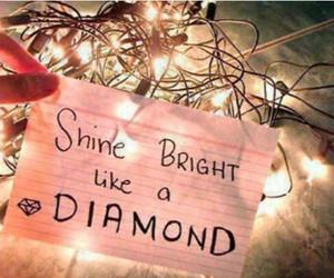 diamond, light, and shine image