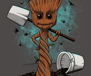 Marvel, groot, and qwertee image