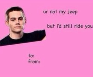 teen wolf, valentines card, and dylan obrien image
