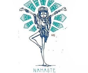 namaste, yoga, and drawing image
