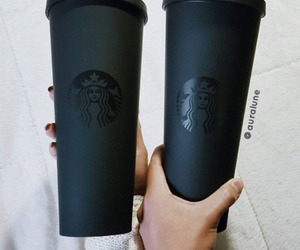 starbucks, black, and coffee image