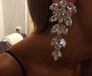 classy, earrings, and diamonds image