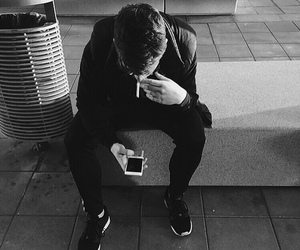 black and white, fashion, and cigarettes image