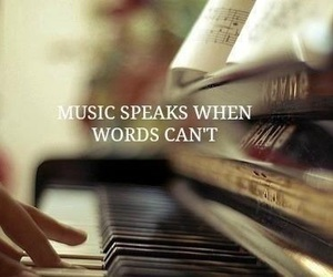 music, piano, and words image