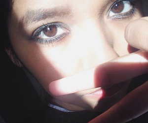 aesthetic, brown eyes, and eyebrows image