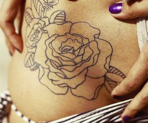 flower, hip bone, and sexy image