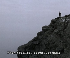 jump, suicide, and sad image