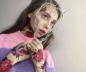 unicorn, girl, and tattoo image