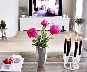 flowers, home, and room image