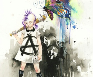 art, butterfly, and anarchy image