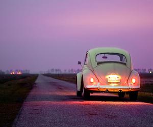 car, vintage, and light image
