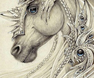 horse, art, and draw image