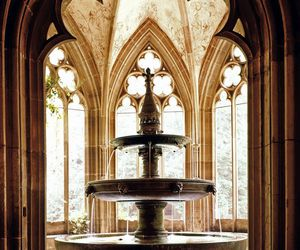 architecture, fairy tale, and fountain image