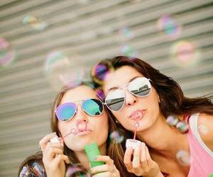 friends, bubbles, and bff image