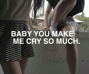 cry, grunge, and quotes image