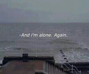 alone, sad, and again image