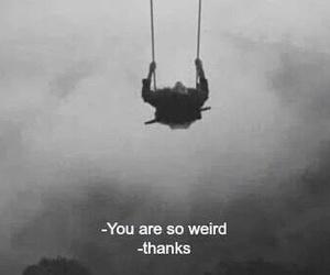 black and white, weird, and weirdo image