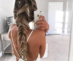 blonde, long, and braids image