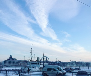 helsinki, snow, and winter image