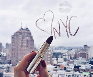 nyc, lipstick, and city image