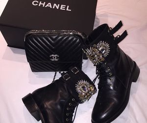black, luxury, and chanel image