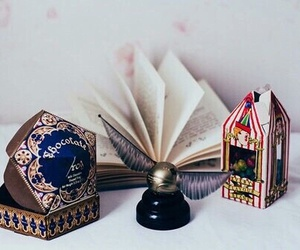 harry potter, book, and chocolate image