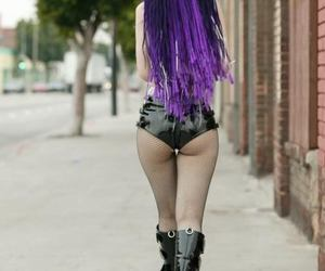 purple, girl, and boots image