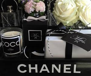 beautiful, chanel, and black and white image